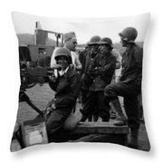 Wacs Learning Fire Machine Gun Circa 1943 Black Throw Pillow