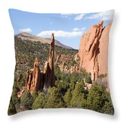 West Garden Of The Gods Throw Pillow
