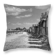 Whitstable Huts Throw Pillow