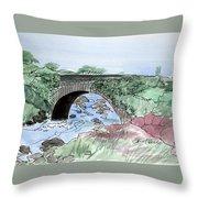 Wishing Bride Bridge, Co.. Kerry Throw Pillow