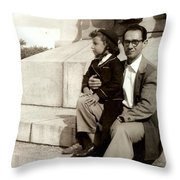 With Dad On Mount Royal Throw Pillow