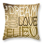 Words Of Love 6 Throw Pillow