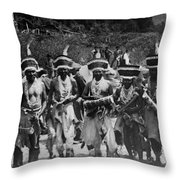 Yurok Indians In Ceremonial Costumes Circa 1905 Throw Pillow