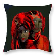 2032 - Colour Of Passion 2017 Throw Pillow