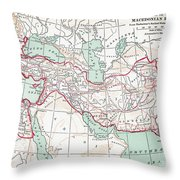 Map Of Macedonian Empire Throw Pillow