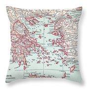 Map: Ancient Greece Throw Pillow