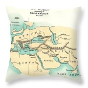 World Map, C300 B.c Throw Pillow