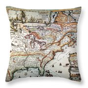 New France, 1719 Throw Pillow