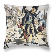 Prohibition  Cartoon, 1889 Throw Pillow
