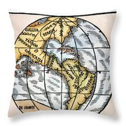 World Map, 1529 Throw Pillow