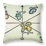 Azores, 1528 Throw Pillow