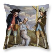 Tarring & Feathering, 1774 Throw Pillow
