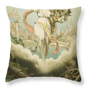 Atlanta Exposition, 1895 Throw Pillow
