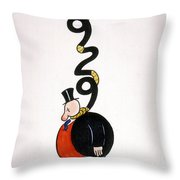 Depression Cartoon Throw Pillow