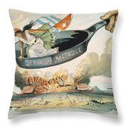 Spanish-american War, 1898 Throw Pillow