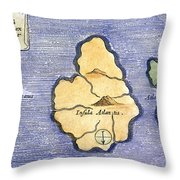 Map Of Atlantis, 1678 Throw Pillow
