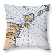 Traces Of Atlantis Throw Pillow