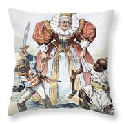 Imperialism Cartoon, 1896 Throw Pillow