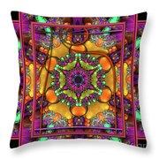 001 - Mandala Throw Pillow by Mimulux patricia no No