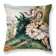 James Blaine Cartoon, 1884 Throw Pillow