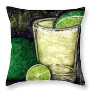 Tequila With Salt And Lime Throw Pillow
