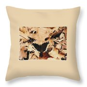 #002 Nymphalis Antiopa, Mourning Cloak Camberwell Beauty Large Butterfly Anglewing Throw Pillow