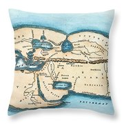 Strabo World Map, C20 A.d Throw Pillow