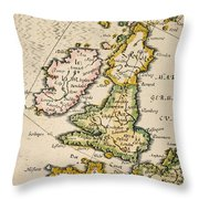 Map Of Great Britain, 1623 Throw Pillow