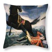 Cartoon: Thomas Gage, 1774 Throw Pillow