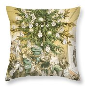 Treasury Cartoon, 1883 Throw Pillow by Granger