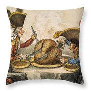 Napoleon Cartoon, 1805 Throw Pillow