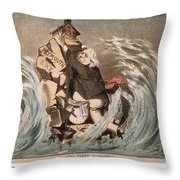 Beecher Cartoon, 1885 Throw Pillow