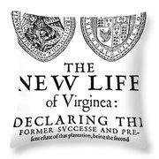 Virginia Tract, 1612 Throw Pillow