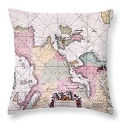 Map: European Coasts, 1715 Throw Pillow