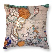 Pacific Ocean/asia, 1595 Throw Pillow