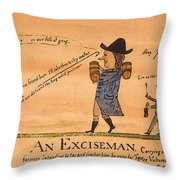 Cartoon: Whiskey Tax, 1794 Throw Pillow