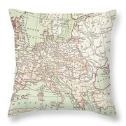 Map Of Europe, C1812 Throw Pillow