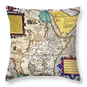African Map, 1595 Throw Pillow