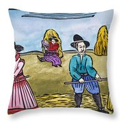 Love Among Haystacks Throw Pillow