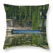 0044-2- Row Boat Throw Pillow