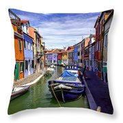 0045 Burano Colors 2 Throw Pillow