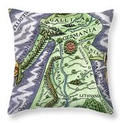 Europe As A Queen, 1588 Throw Pillow