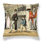 Paris Occupation, 1814 Throw Pillow