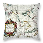 East Indies Map, 1670 Throw Pillow