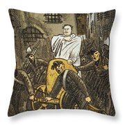 Benito Mussolini Cartoon Throw Pillow