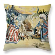 G. Cleveland Cartoon, 1896 Throw Pillow