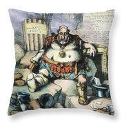 Nast: Tweed's Downfall Throw Pillow