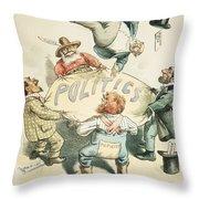 U.s. Cartoon: Businessman Throw Pillow