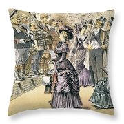Marriage For Titles, 1895 Throw Pillow