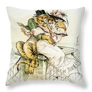 Political Cartoon Throw Pillow